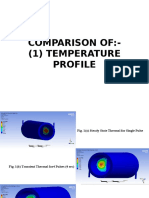 Comparison of Temperature and Heat Flux for Various Cases