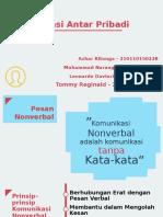 PPT Kelompok 4 (Chapter 6 Komunikasi Nonverbal)