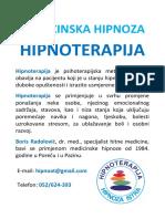 Medicinska Hipnoza i Hipnoterapija Porec Pazin Plakat 170308