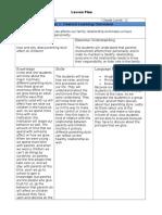 english lesson plan sample