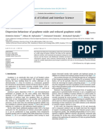 Dispersion Behaviour of Graphene Oxide and Reduced Graphene Oxide