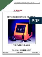 Manual Detector de fugas de Helio 490S Español