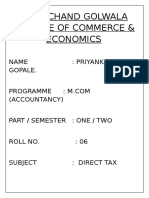 M.COM PROJECT of service tax.docx