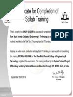 SHILPI SAGAR Participant Certificate