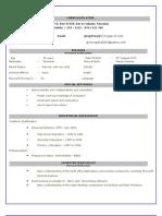 CV-Loan officer position