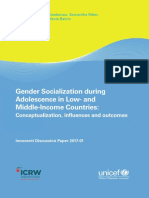 Innocenti Gender Socialization during Adolescence in Low- and Middle- Income Countries