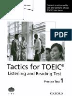 Tactics for TOEIC - Practice Test 1