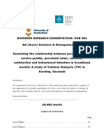 Business Research Dissertation