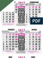 Kalender 2017 Wuku Jawa