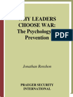 Jonathan Renshon-Why Leaders Choose War_ The Psychology of Prevention (2006).pdf