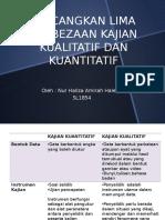 Sl1854- Lima Perbezaan Kajian Kualitatif Dan Kuantitatif