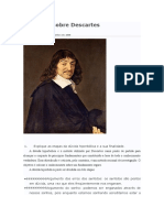 Questões Sobre Descartes 11º