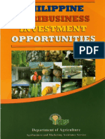 Philippine Agribusiness Investment Opportunities by Department of Agriculture