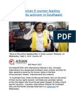 Amnesty names 6 women leading human rights activism in Southeast Asia.docx