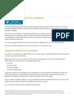 Prepare the Microsoft SQL Server Database
