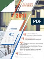2017 Tax Calendar | Czech Republic