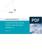 02062017 Oracle Financials Cloud Functional Known Issues - Release 12