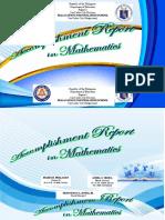 Accomplishment Report in Math 2015-2016