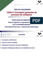 SOLDADURA Tema 9 Conceptos generales de procesos de soldadura.pdf