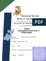Violencia Politica y Etnicidad
