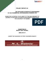 Analysis of Risk Involved in Portfolio Management of IPLIC_Final