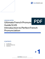 1. Introduction to Perfect French Pronunciation