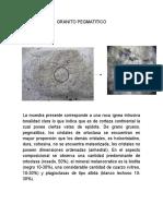 Descripciones rocas, laboratorio 5 USCO