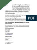 GLCC Disclosure Obligations