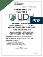 Localizacion de Plantas Industriales y de Servicio