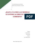 Ensayo de La Economia de Venezuela