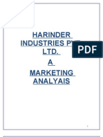 Harinder Industries Limited Marketing Analysis