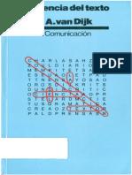 Teun Van Dijk. La Ciencia Del Texto (1978)