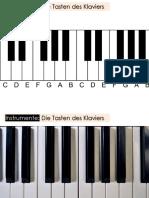 Tasten des Klaviers