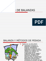 Uso de Balanzas