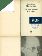 Malinowski Bronislaw - Una Teoria Cientifica de La Cultura
