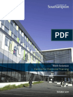 Web Science Centre for Doctoral Training 2016-2017