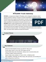 MTG2000 Trunk Gateway Datasheet v1.0