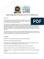 Opportunity to Learn Index for the NYS Accountability System