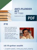 Anti Plunder ppt 1st year UC