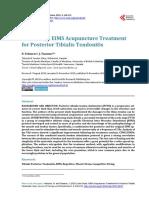 Posterior Tibialis Tendonitis Study