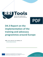 RRITools D4 3 Report on the Implementation of Training Activities M36