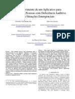 Desenvolvimento de Um Aplicativo Para Celulares Das Pessoas Com Deficiência Auditiva Para Situações Emergenciais