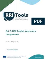 RRITools D4.2 AdvocacyProgramme