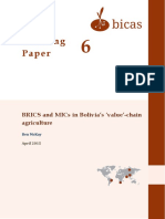 2015 BRICS and MICs in Bolivia Value Chain Agriculture
