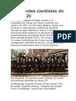 Congresso de Solvay e Grandes Cientistas Do Séc 20
