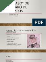 """Poema """"Acaso"""" de Álvaro de Campos"""
