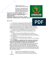 AMISOM Takes Stock of Its Operations in Somalia in the Last Decade