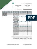 Control de Pruebas de Descarga-Desfibrilador