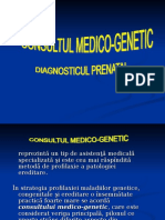 CURS Consultul Medico-genetic. Diagnosticul Prenatal