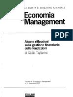 Gestione Finanziaria Delle Fondazioni Bancarie